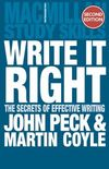 Write it right the secrets of effective writing