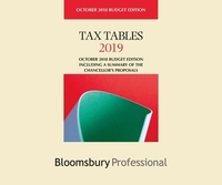 Tax tables 2019 October 2018 budget edition including a summary of the Chancellor's proposals