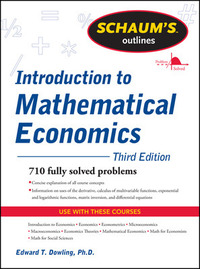 Introduction to mathematical economics [Third edition]