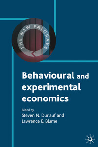 Behavioural and experimental economics