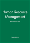 Human resource management an introduction