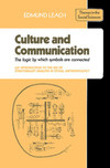 Culture & communication the logic by which symbols are connected: an introduction to the use of structuralist analysis in social anthropology by Edmund Leach