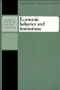Economic behavior and institutions