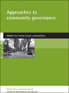 Approaches to community governance models for mixed tenure communities